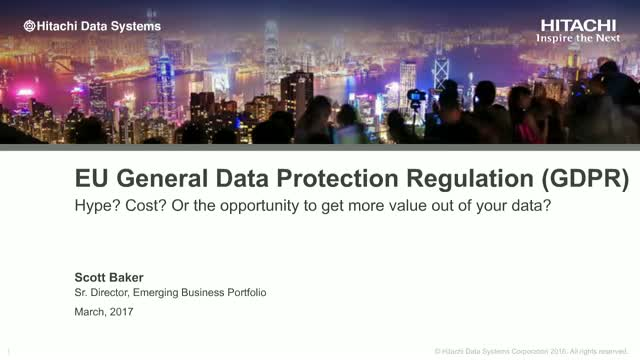 EU GDPR: Hype? Cost? Or the opportunity to get more value out of your data?