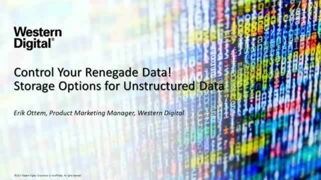 Control Renegade Data! Options for Storing Unstructured Data