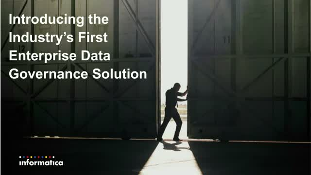 Introducing The Industry's First Enterprise Data Governance Solution