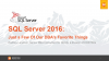 SQL Server 2016: Just a Few of Our DBA's Favorite Things