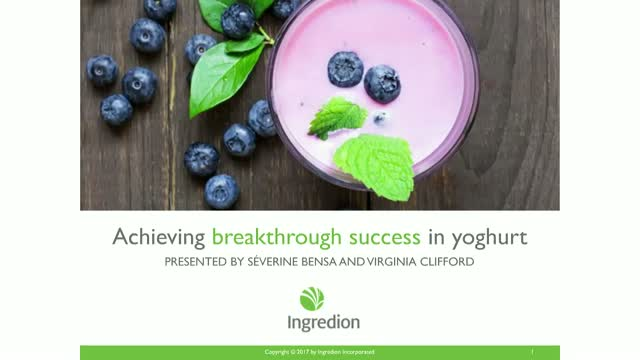 4 Eating Styles: Yoghurt Case Study