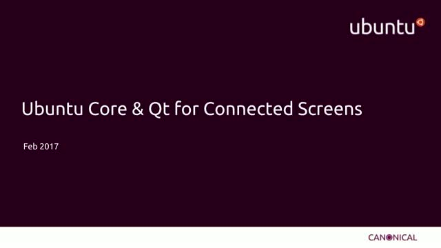 Qt on Ubuntu Core