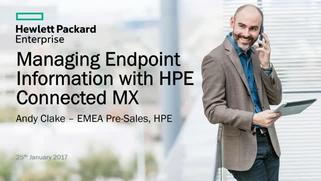 Managing Endpoint Information with HPE Connected MX