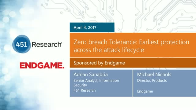 Zero breach Tolerance: Earliest protection across the attack lifecycle