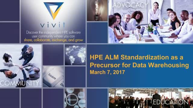 HPE ALM Standardization as a Precursor for Data Warehousing
