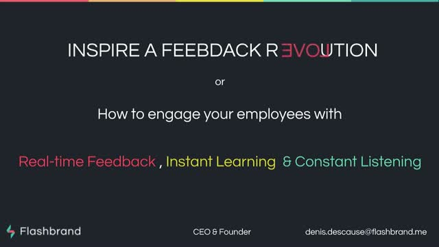 How to engage employees w/ realtime feedback, learning & continuous listening