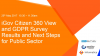 iGov Survey Results: GDPR Compliance and Creating a 360 Citizen View