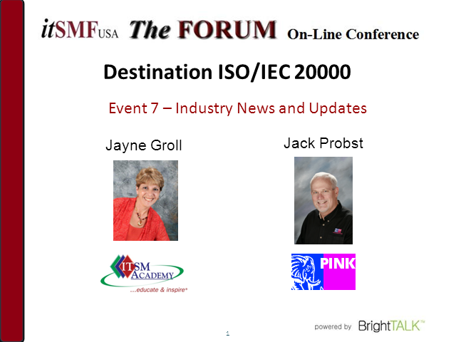 Destination ISO/IEC 20000: Industry News and Updates