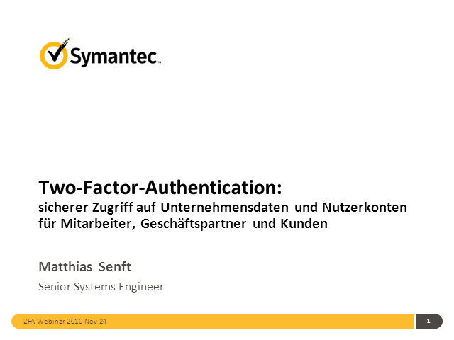 Two-Factor-Authentication (German)