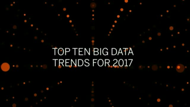 Top 10 Big Data Trends for 2017