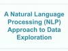 A Natural Language Processing (NLP) Approach to Data Exploration