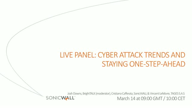 [Live panel] Cyber Attack Trends and Staying One-step-ahead