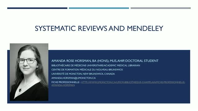 Using Mendeley for Systematic Reviews