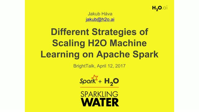 Different Strategies of Scaling H2O Machine Learning on Apache Spark