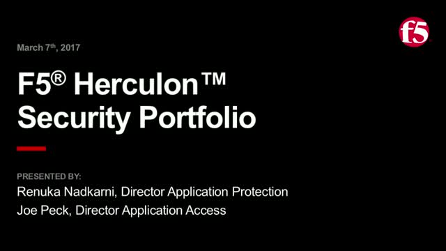 F5 Herculon Security Overview