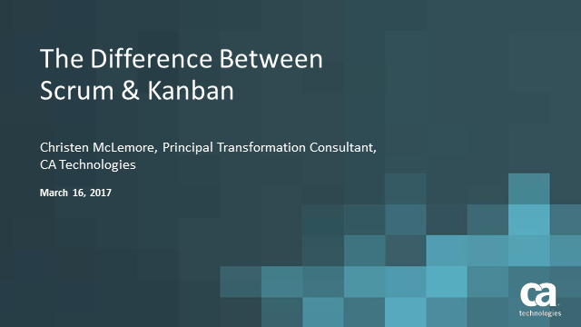 The Difference Between Scrum & Kanban