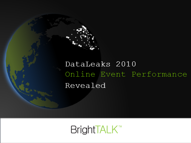 DataLeaks 2010: Online Event Performance Revealed