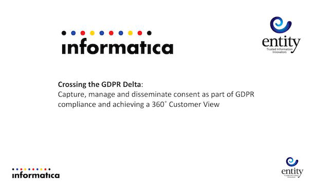 Crossing the GDPR Delta: Capture, manage and disseminate consent as part of GDPR