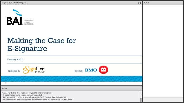 Making the Case for E-Signature ft Bank of Montreal