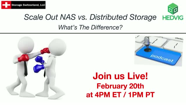 Podcast - Scale-out NAS vs. Distributed Storage
