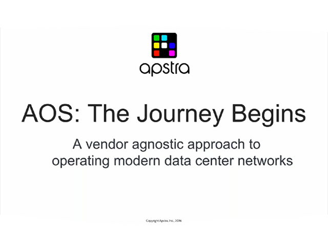 Building an Agile Data Center Network with AOS