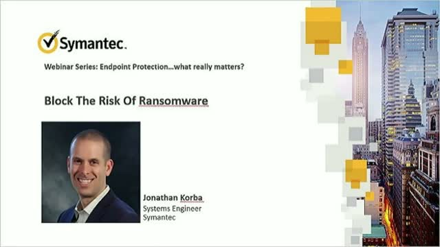 SEP 14 Webinar Series: Block The Risk Of Ransomware