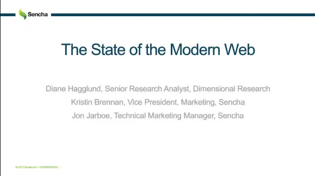 SNC - Learn Key Insights from the State of the Modern Web Research Report