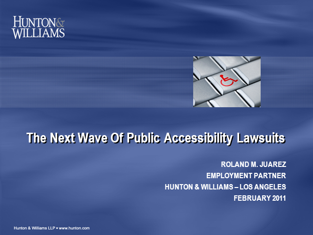 The Next Wave of Public Accessiblity Lawsuits