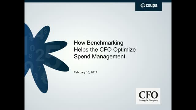 How Benchmarking Helps the CFO Optimize Spend Management
