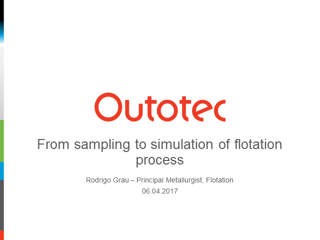 From sampling to simulation of flotation process
