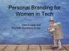 Personal Branding for Women in Tech