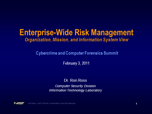 Enterprise-Wide Risk Management