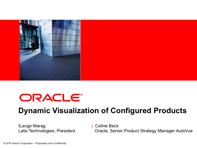 Dynamic Visualization of  Configured Products