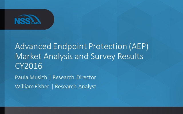 Advanced Endpoint Protection (AEP) - Market Analysis and Survey Results CY2016