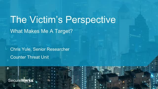 The Victim's Perspective: What Makes Me a Target?