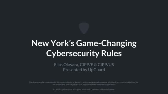 New York's Game-Changing Cybersecurity Rules
