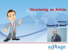 Webinar 1 of 3: Structuring an article