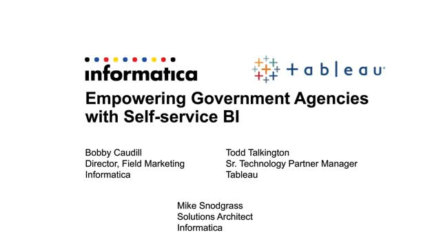Empowering Government Agencies with Self-Service BI