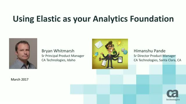 Using Elastic as your Analytics Foundation