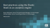 Best Practices using the Elastic Stack as an Analytics Engine