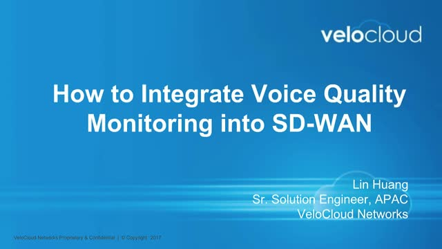 How to integrate Voice Quality Monitoring into SD-WAN