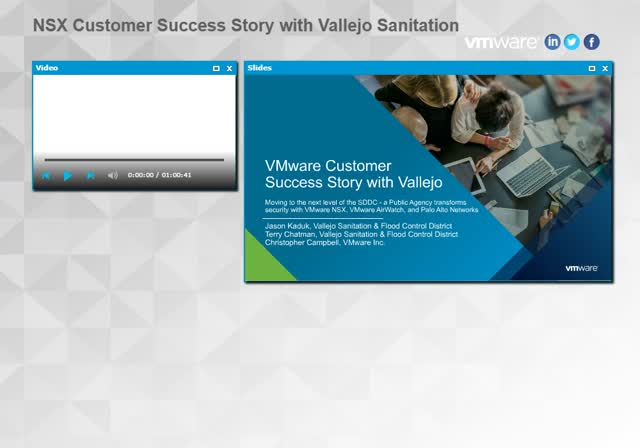 NSX Customer Success Story with Vallejo
