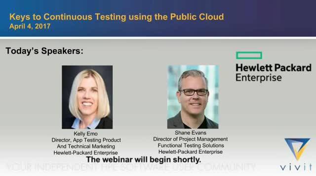 Keys to Continuous Testing using the Public Cloud