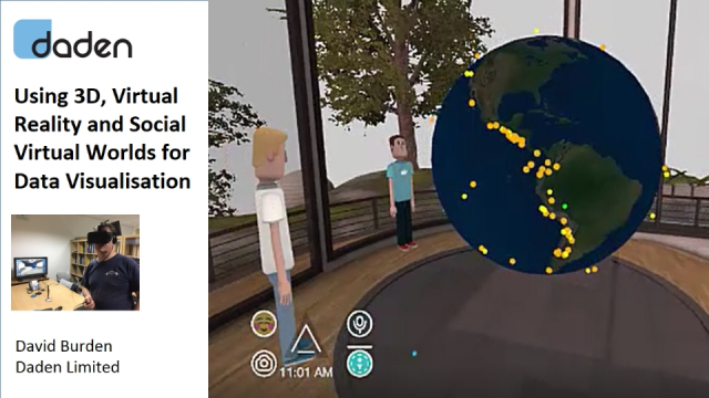 Using 3D, Virtual Reality and Social Virtual Worlds for Data Visualisation