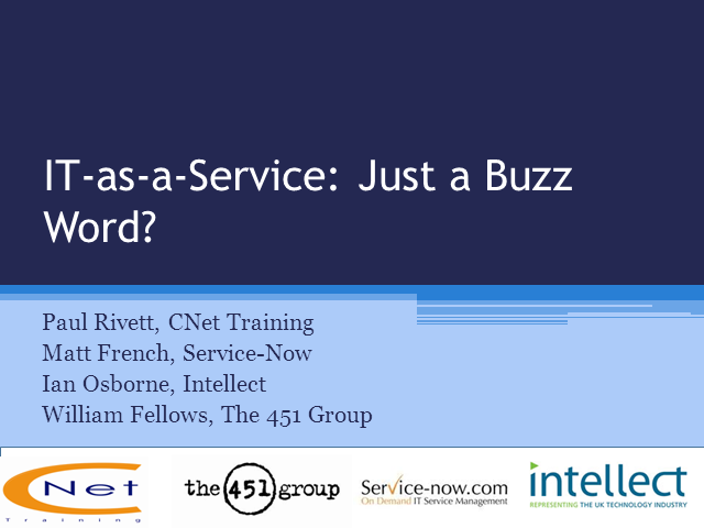 IT-as-a-Service: Just a Buzz Word?