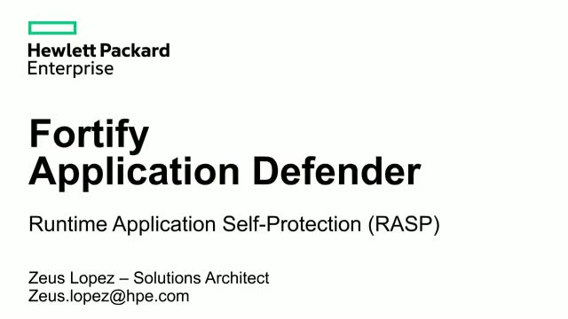 Fortify Application Defender en la Nube