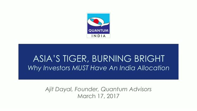 Asia's Tiger, Burning Bright: Why you must have an India-country allocation