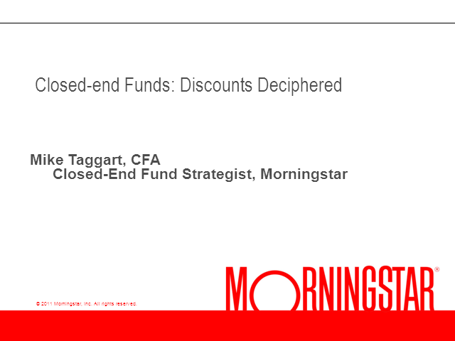 Closed-end Funds Discounts Deciphered
