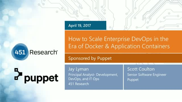 How to Scale Enterprise DevOps in the Era of Docker & Application Containers