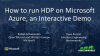 How to run HDP on Microsoft Azure, an Interactive Demo